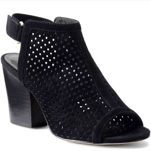 ISOLA suede leather velcro back mules ankle boots